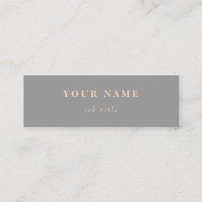 Minimalist Classic Elegant Mini Grey Business Card