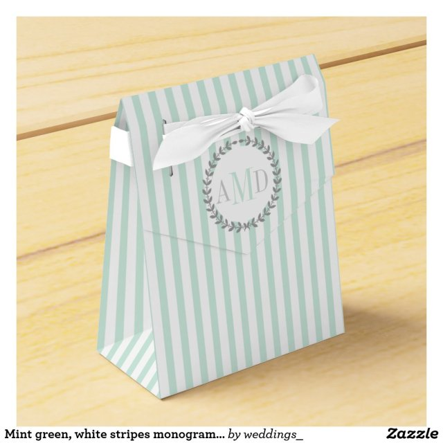 Monogram Wedding Favour Box