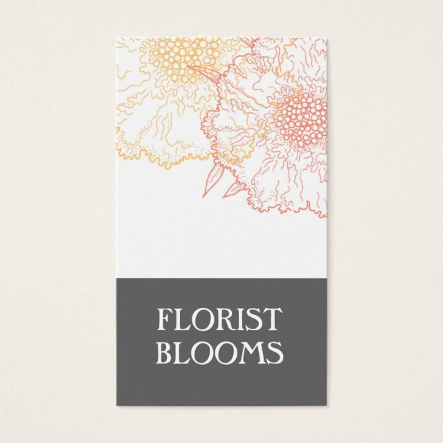 Modern Florist Business Cards