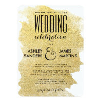 MODERN GOLD WEDDING INVITATION