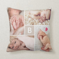 Monogram Photo Collage Cushion
