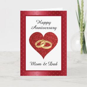 Mon & Dad Anniversary Card