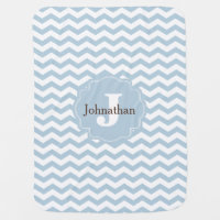 Monogram Chevron Custom Baby Blanket