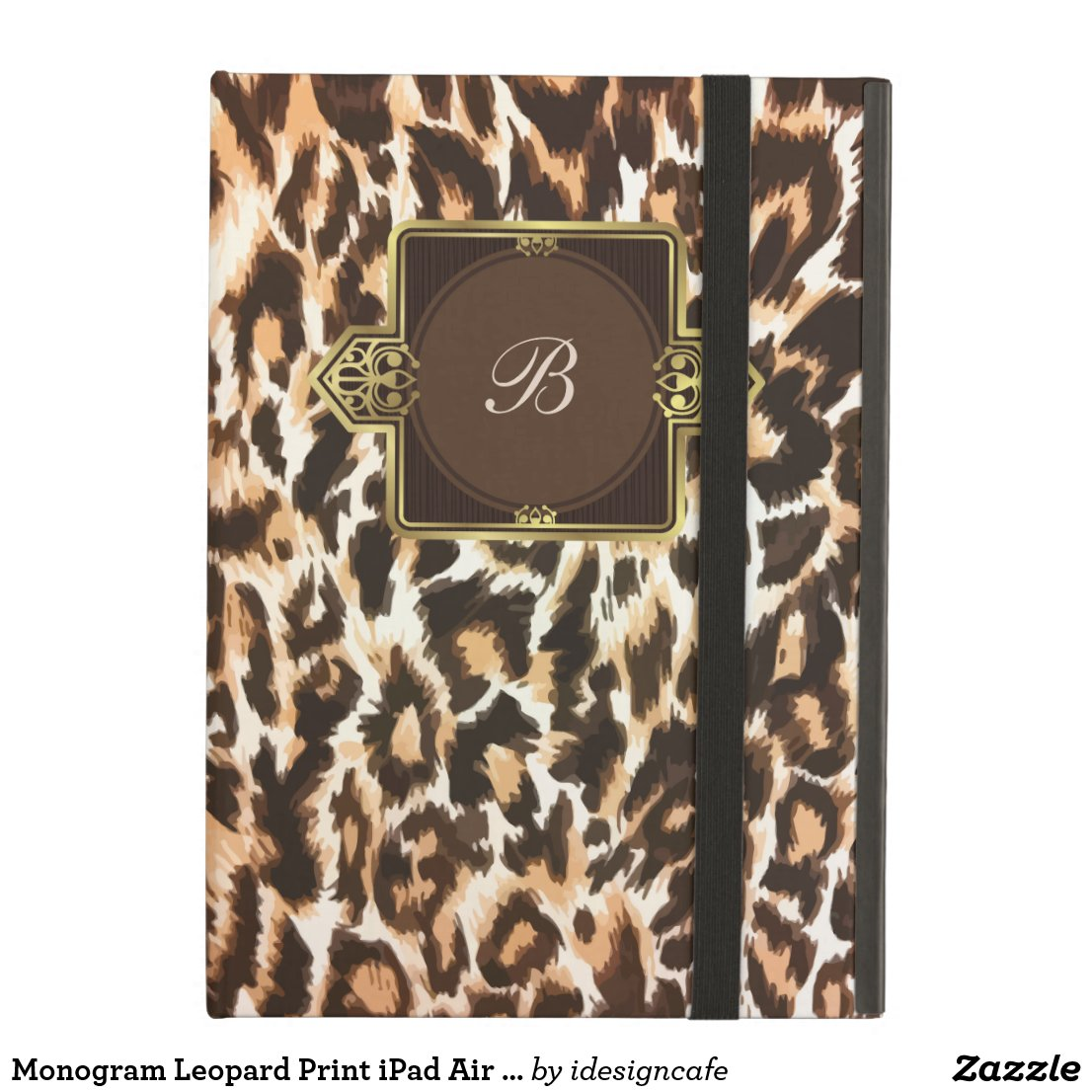 Monogram Leopard Print iPad Air Case