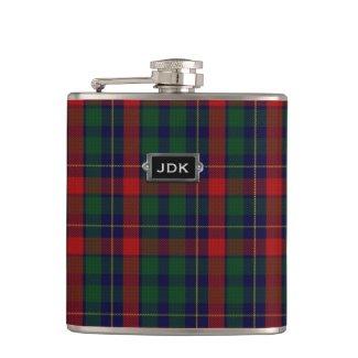 Monogramed Clan Kilgour Tartan Plaid Flask