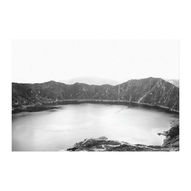 Mountain Black and White Canvas Print