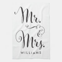 Mr. & Mrs. kitchen towel