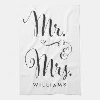 Mr. & Mrs. kitchen towel