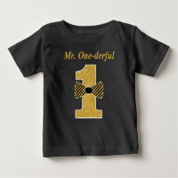 Mr Onederful Baby T-Shirt