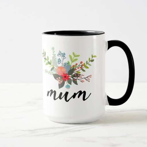 mum watercolor bouquet mug
