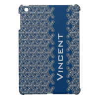 Name blue name tri-cubic patterned ipad mini iPad mini cases
