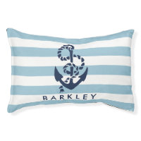 Nautical Anchor Personalized Dog Bed