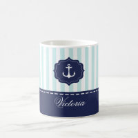 Nautical Anchor Custom Coffee Mug