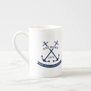 Nautical Mug with Anchors - Customisable