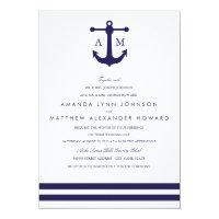 Nautical Navy Wedding Invitation