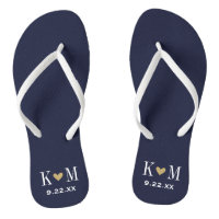 Wedding Monogram Flip Flops