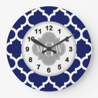 Moroccan Monogram Clock