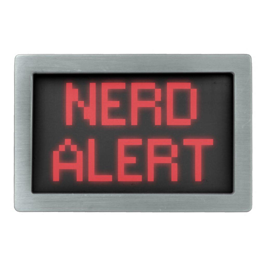 Nerd Alert Belt Buckle