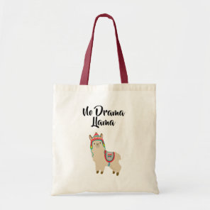 No Drama Llama. Tote Bag