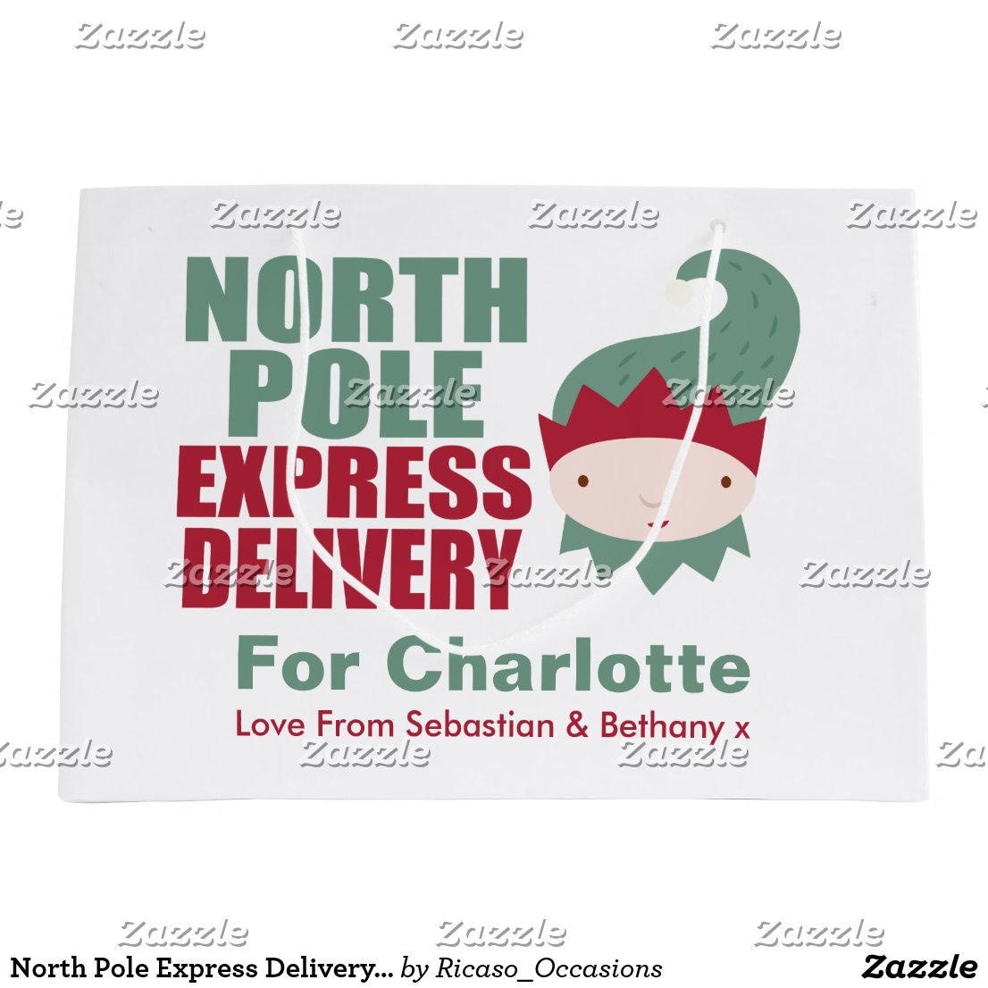 North Pole Express Delivery Personalised Elf