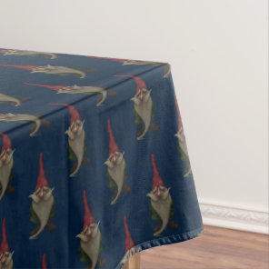 Old Christmas Gnome Pattern Tablecloth