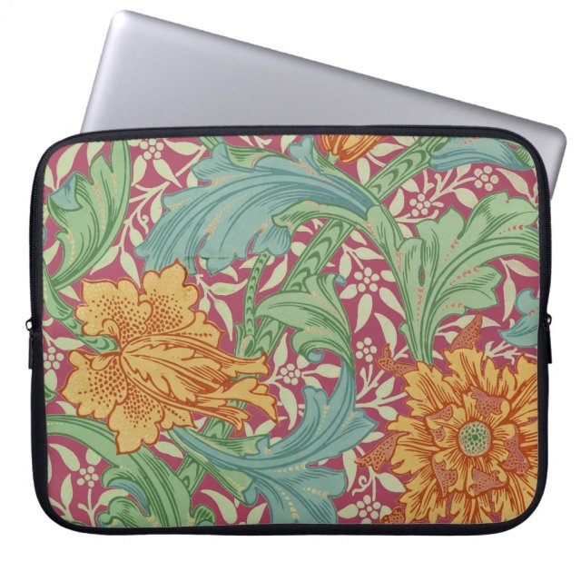 Old World Charm With Orange Flowers For Laptops