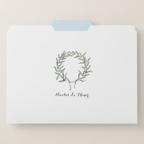 Olive Crown  - customize it with your name! File Folder