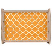 Quatrefoil pattern serving tray