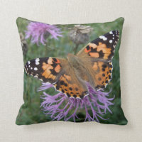 'Painted Lady' Butterfly Pillow