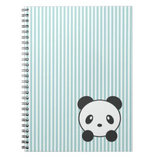 Panda striped notebook
