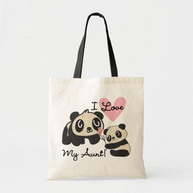 Pandas I Love My Aunt Tote Bag