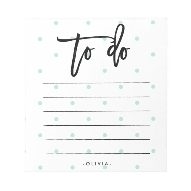 Pastel Blue Polka Dots and Typography To Do List