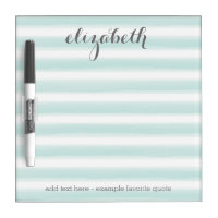 Pastel Teal and Gray Stationery Suite for Women Dry-Erase Board