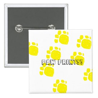 Paw prints in yellow text paw prints customize it