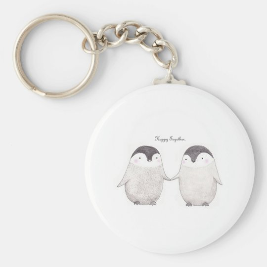 Penguins Happy Together Key Chain