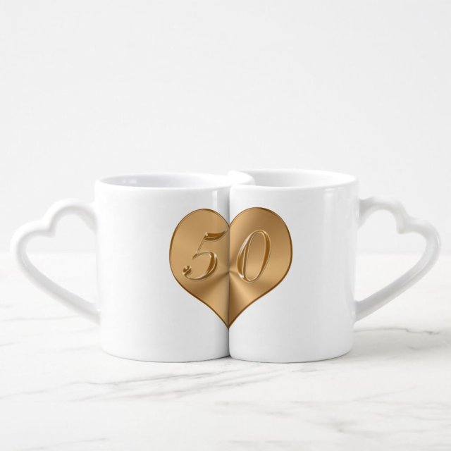 Personalised 50th Wedding Anniversary Mug