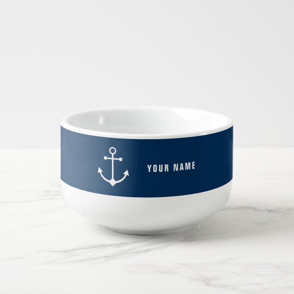 Personalised Anchor Soup Mug