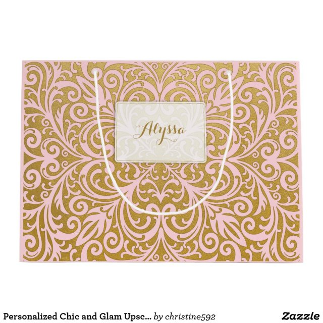 Personalised Chic and Glam Upscale Pink and Gold