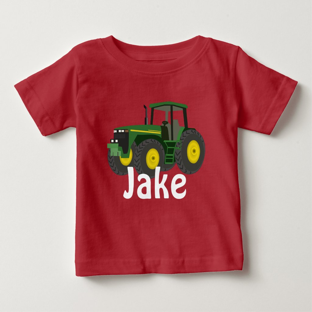Personalised Green Tractor T-Shirt