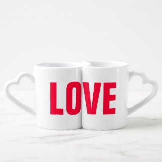 Personalised Love His Hers Mugs