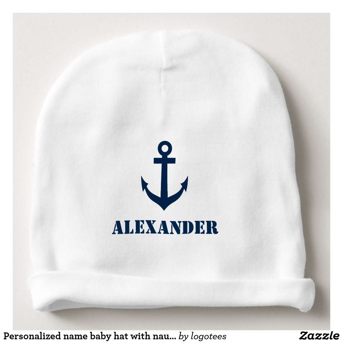 Personalised Nautical Anchor Beanie
