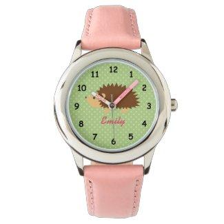 Personalised hedgehog watch