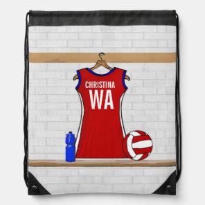 Personalised Netball uniform Drawstring Bag