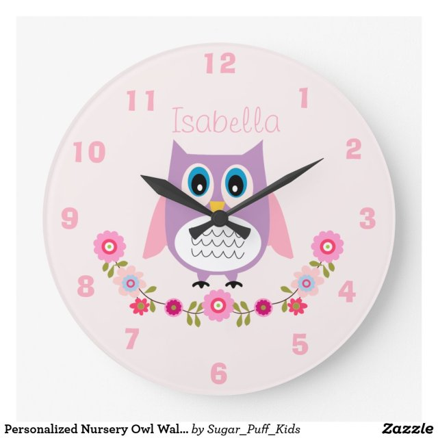 Personalised Owl Wall Clock