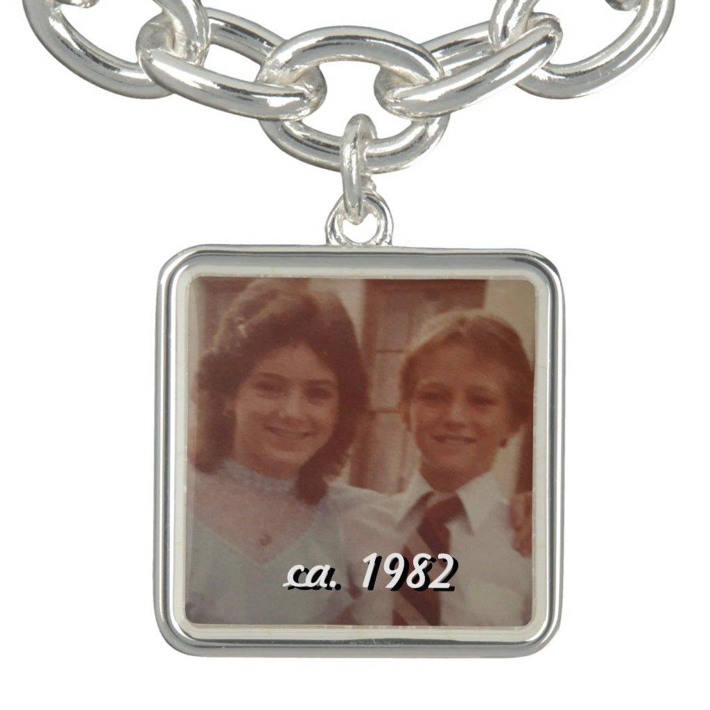 Personalised photo charm bracelet