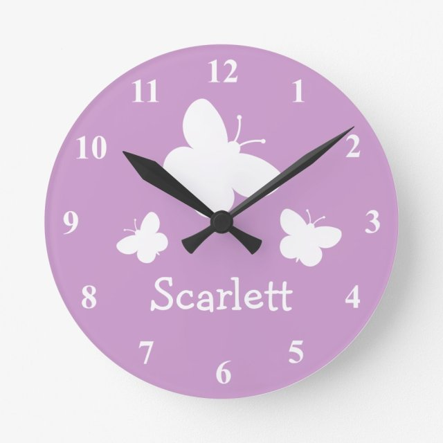 Personalised Butterflies Clock