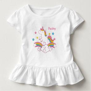 Personalised Rainbow Unicorn shirt with name