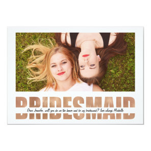 Personalize Photo Will You Be My Bridesmaid Invitation
