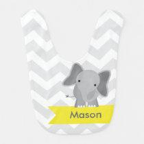 Chevron Elephant Bib