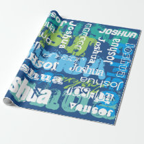 Personalized Subway Art Design Wrapping Paper